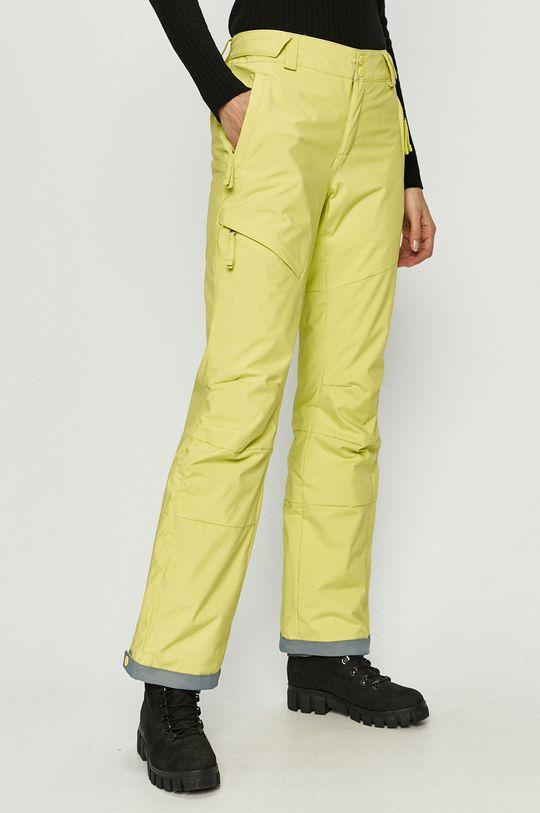 żółto - zielony Columbia - Spodnie Damski