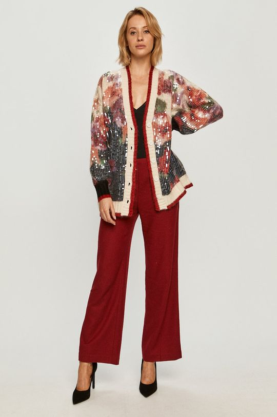 Stefanel - Kalhoty červená