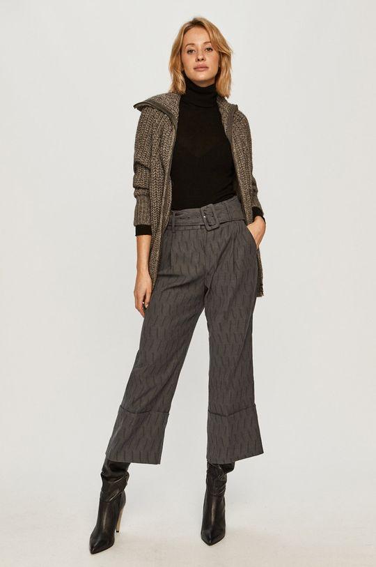 Stefanel - Kalhoty šedá