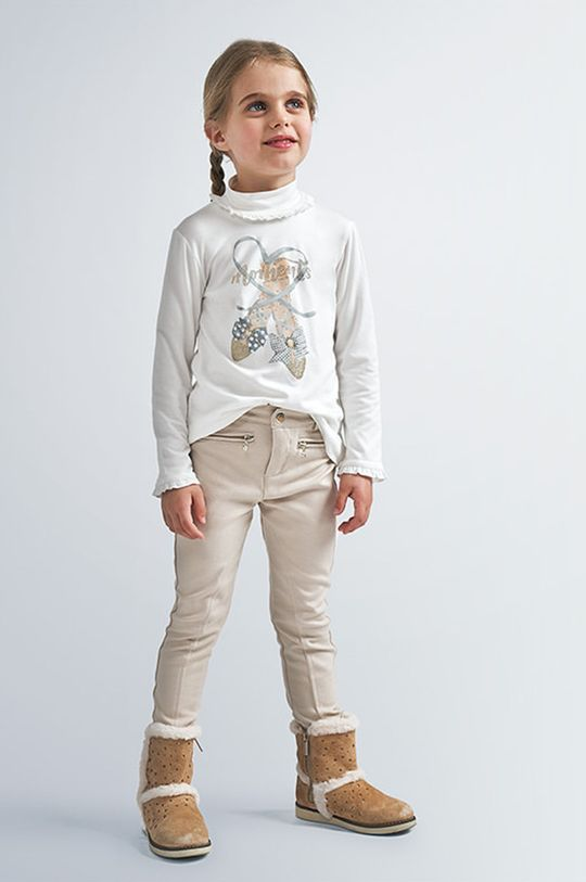 svetlobéžová Mayoral - Detské nohavice 110-134 cm Dievčenský