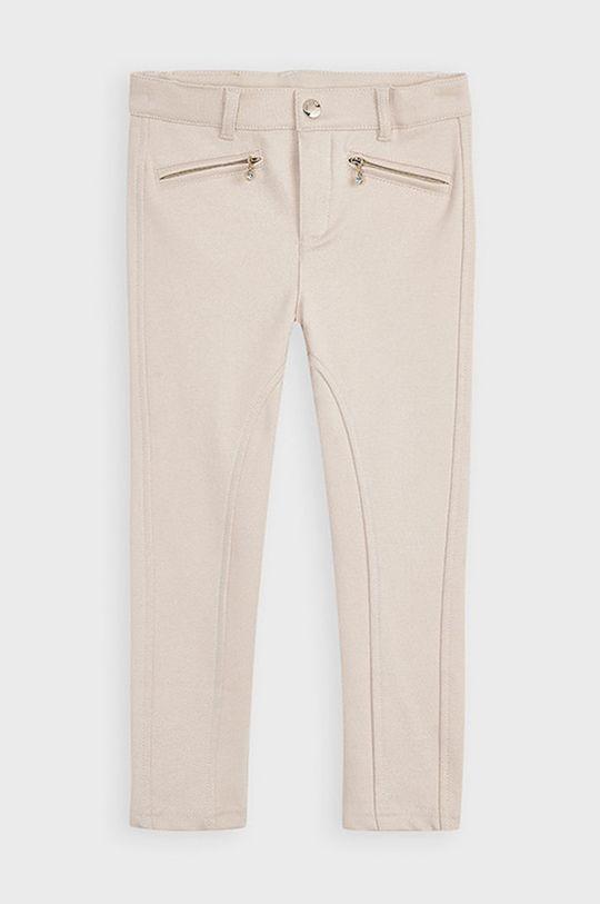 Mayoral - Detské nohavice 110-134 cm svetlobéžová