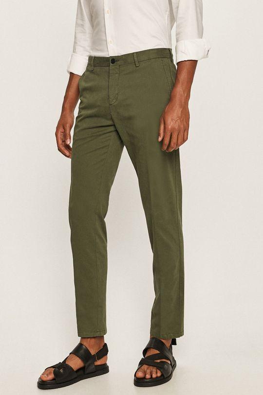 zielony Tommy Hilfiger Tailored - Spodnie Męski