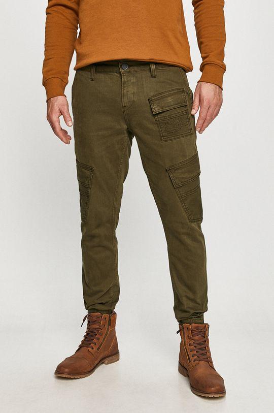 brudny zielony Desigual - Spodnie Męski