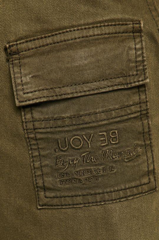 brudny zielony Desigual - Spodnie