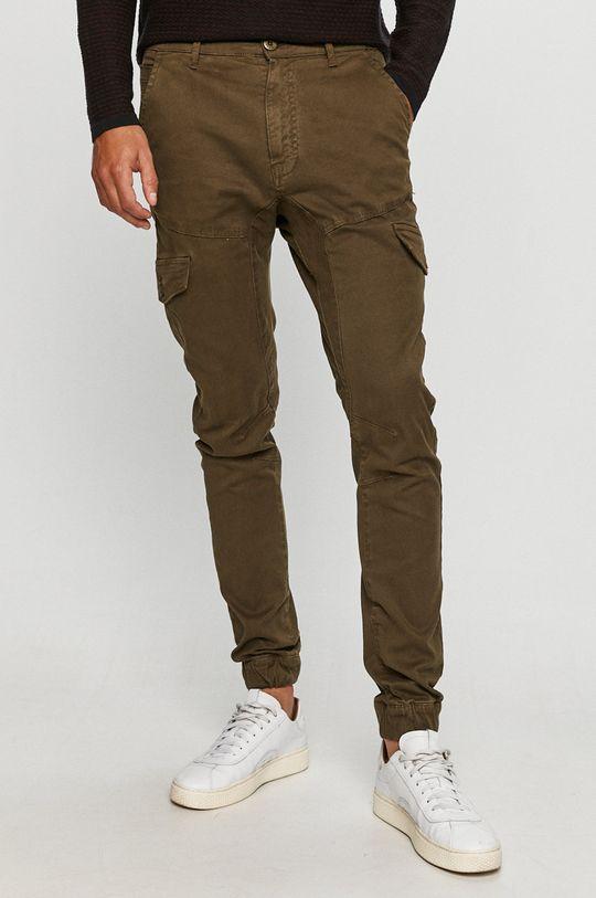 khaki Guess Jeans - Kalhoty Pánský