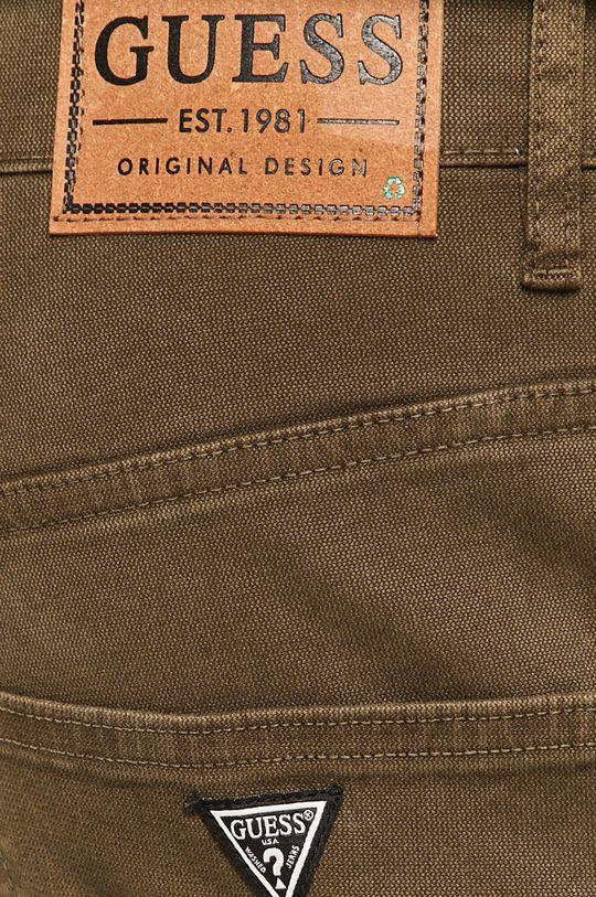 khaki Guess Jeans - Kalhoty