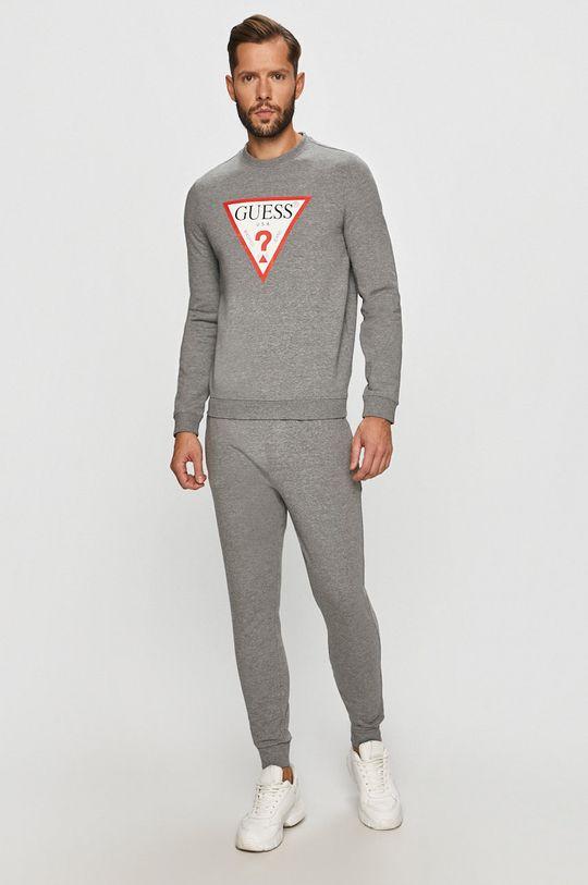 Guess Jeans - Kalhoty světle šedá