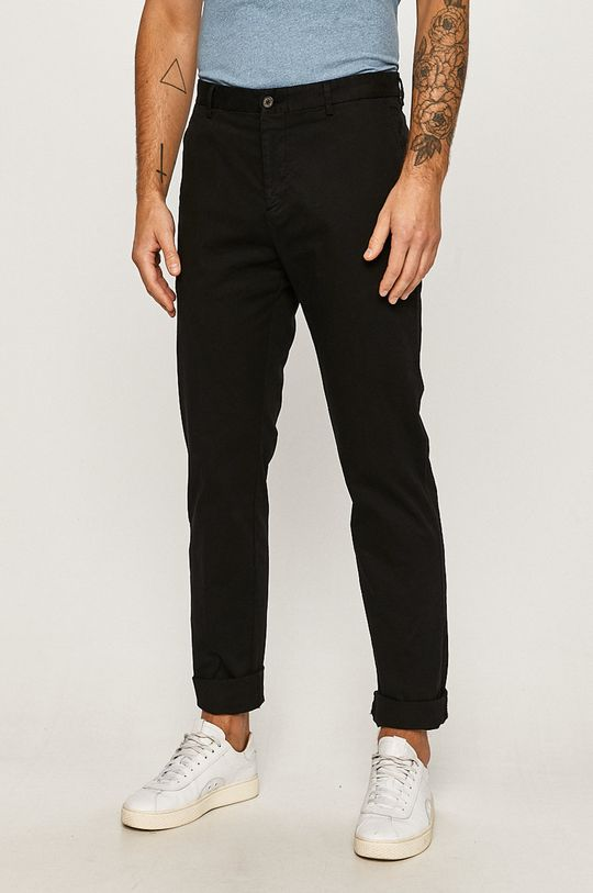 čierna Tommy Hilfiger Tailored - Nohavice Pánsky