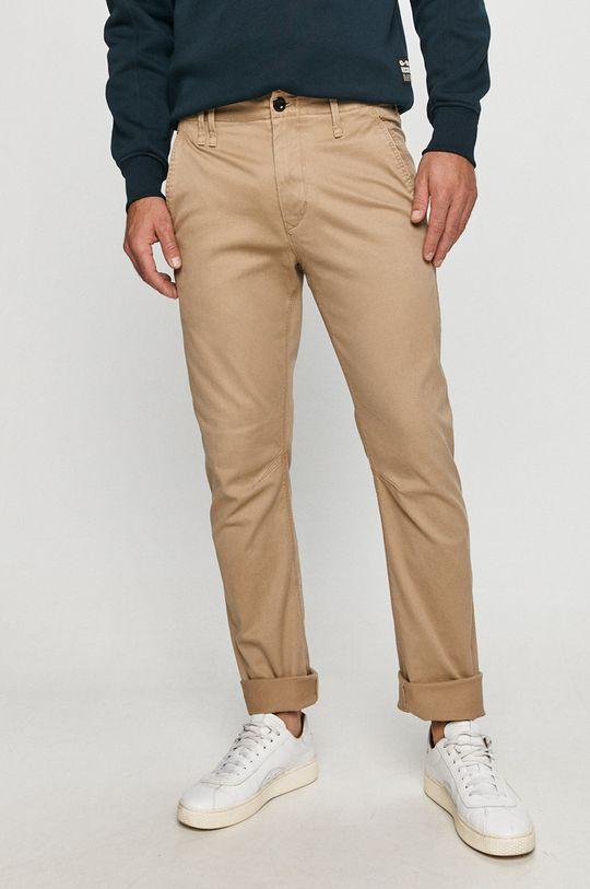 béžová G-Star Raw - Kalhoty Pánský