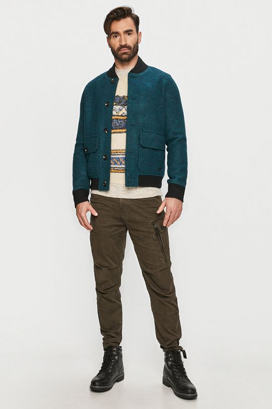 G-Star Raw - Kalhoty tlumená zelená