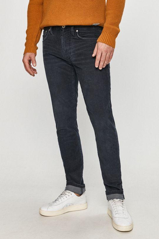 ocelová modrá Pepe Jeans - Kalhoty Stanley Pánský
