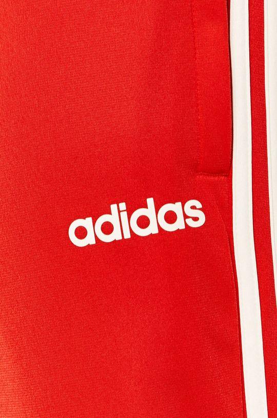 czerwony adidas - Spodnie