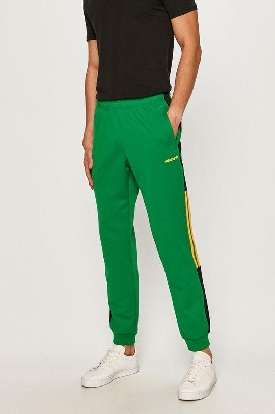 zielony adidas Originals - Spodnie Męski