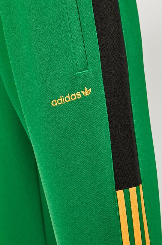 zielony adidas Originals - Spodnie