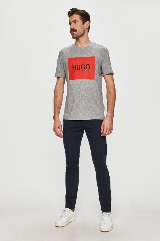 Hugo - Spodnie granatowy