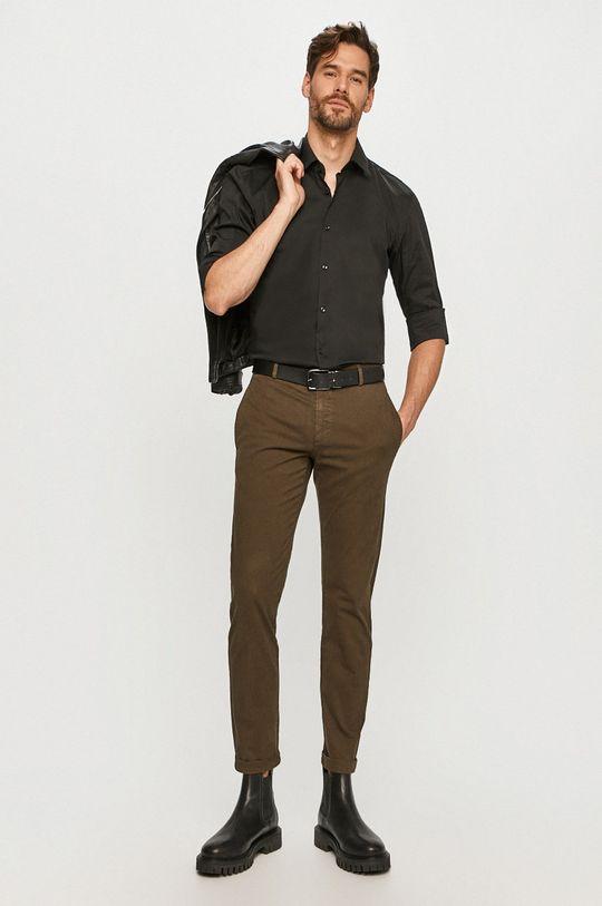 Hugo - Kalhoty tlumená zelená