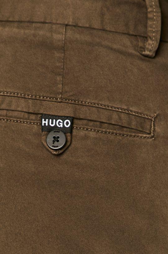 tlumená zelená Hugo - Kalhoty