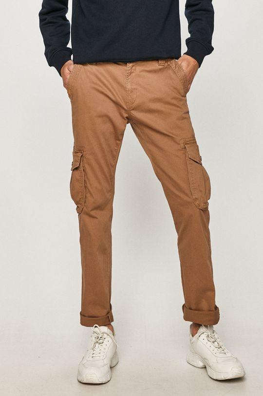złoty brąz Tom Tailor - Spodnie Męski