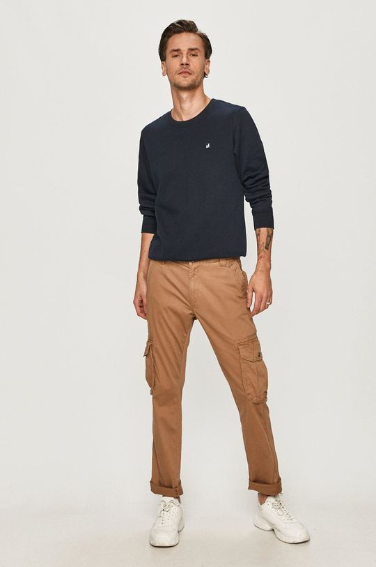 Tom Tailor - Spodnie złoty brąz