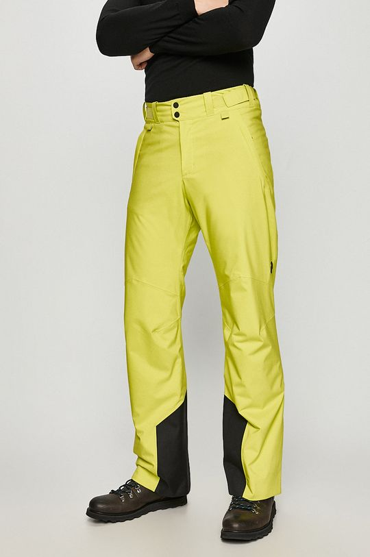 żółto - zielony Peak Performance - Spodnie snowboardowe Męski