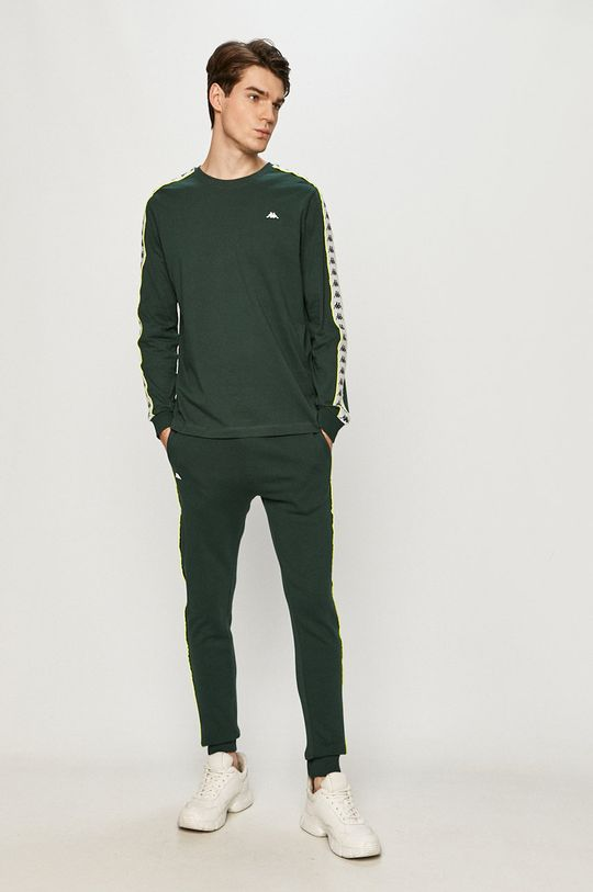 Kappa - Spodnie ciemny zielony