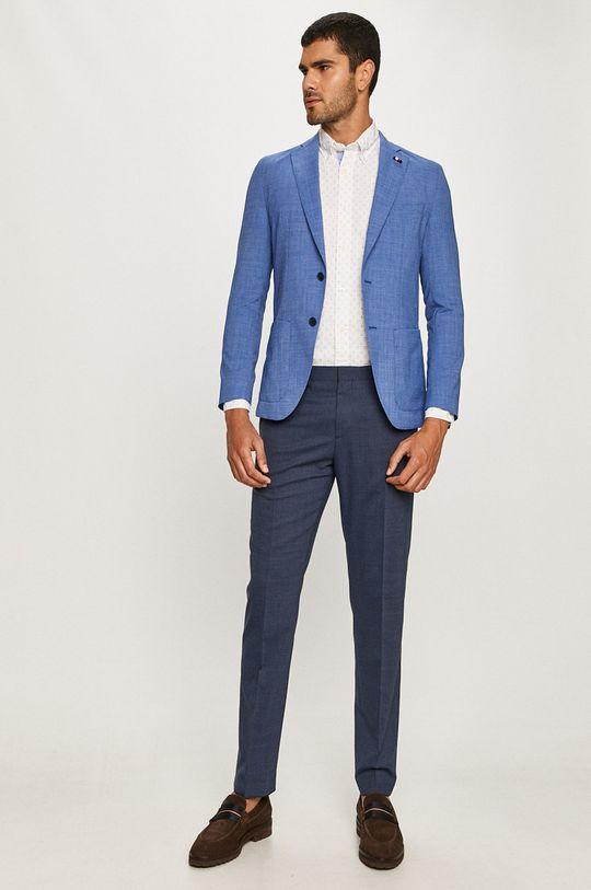 Tommy Hilfiger Tailored - Kalhoty námořnická modř