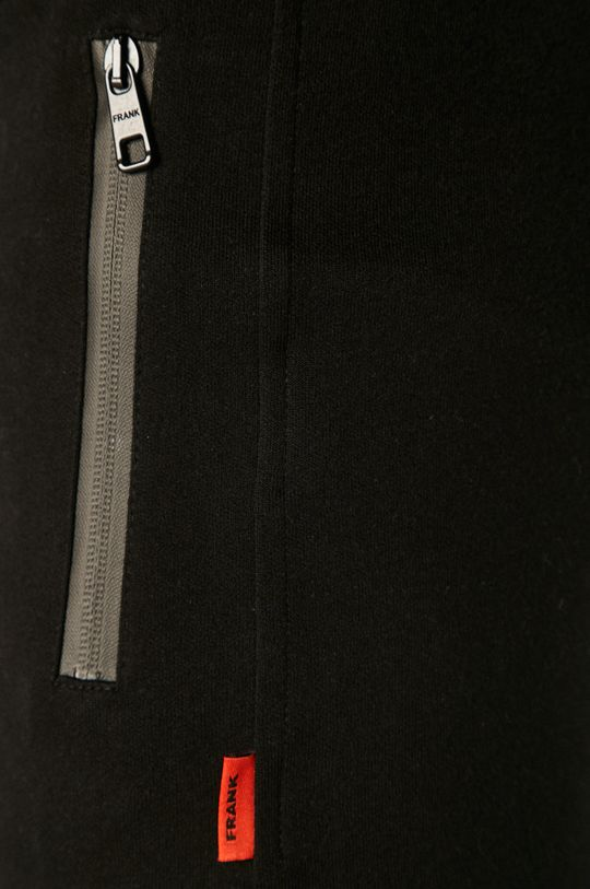 czarny John Frank - Spodnie