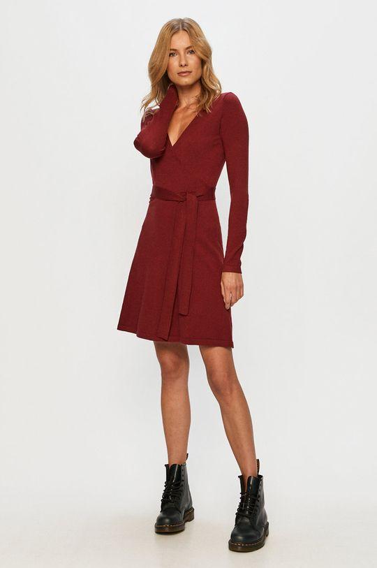 Vero Moda - Šaty gaštanová