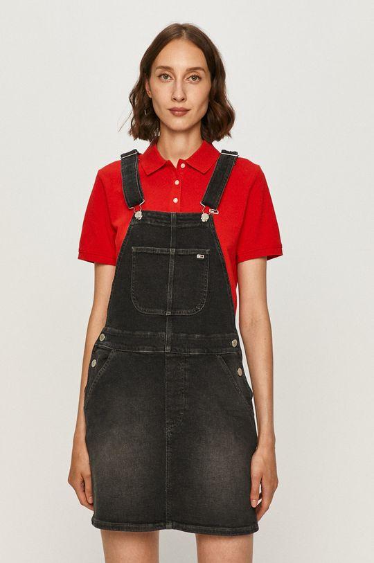 sivá Tommy Jeans - Rifľové šaty Dámsky