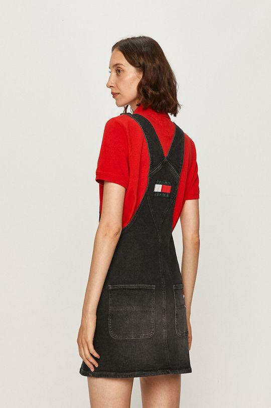 Tommy Jeans - Rifľové šaty  99% Bavlna, 1% Elastan