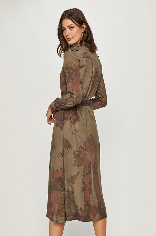 Desigual - Šaty tyrkysová