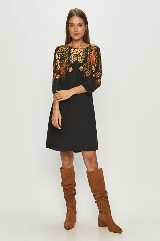 Desigual - Sukienka czarny