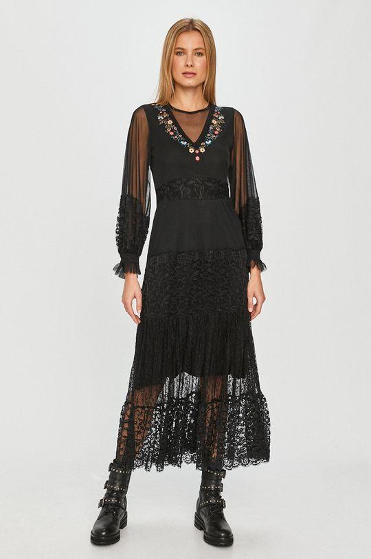 černá Desigual - Šaty Dámský