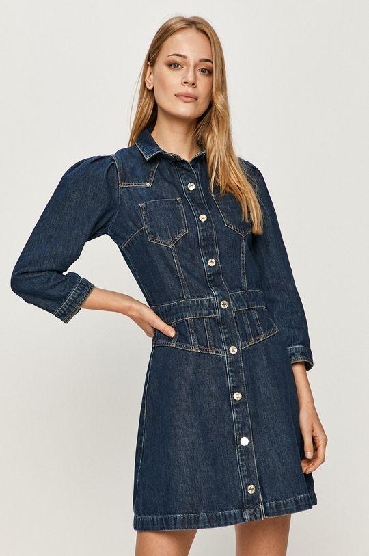 tmavomodrá Guess Jeans - Rifľové šaty Dámsky