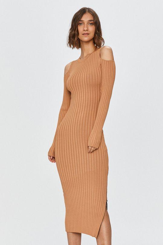 złoty brąz Guess Jeans - Sukienka Damski
