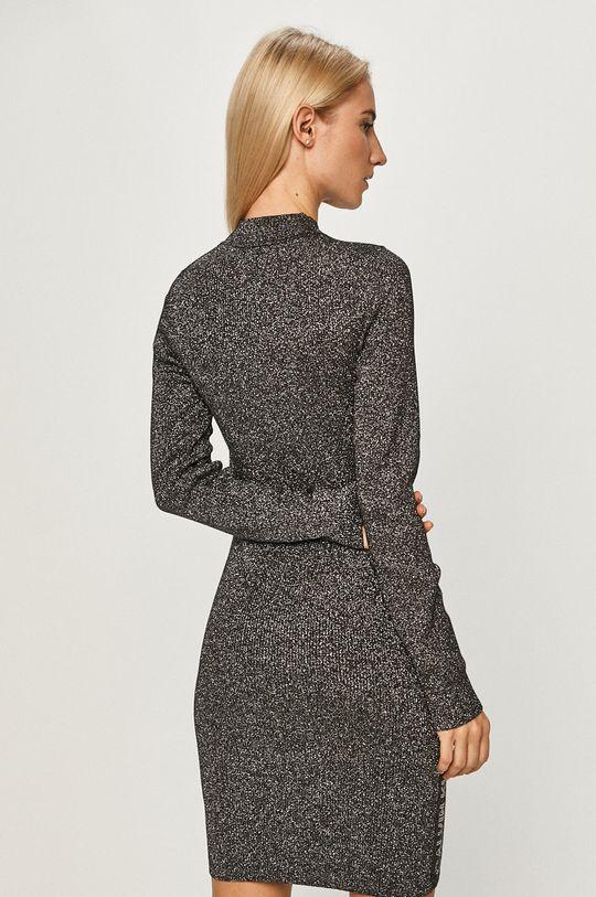 Calvin Klein Jeans - Sukienka 2 % Elastan, 33 % Poliamid, 55 % Wiskoza, 10 % Włókno metaliczne