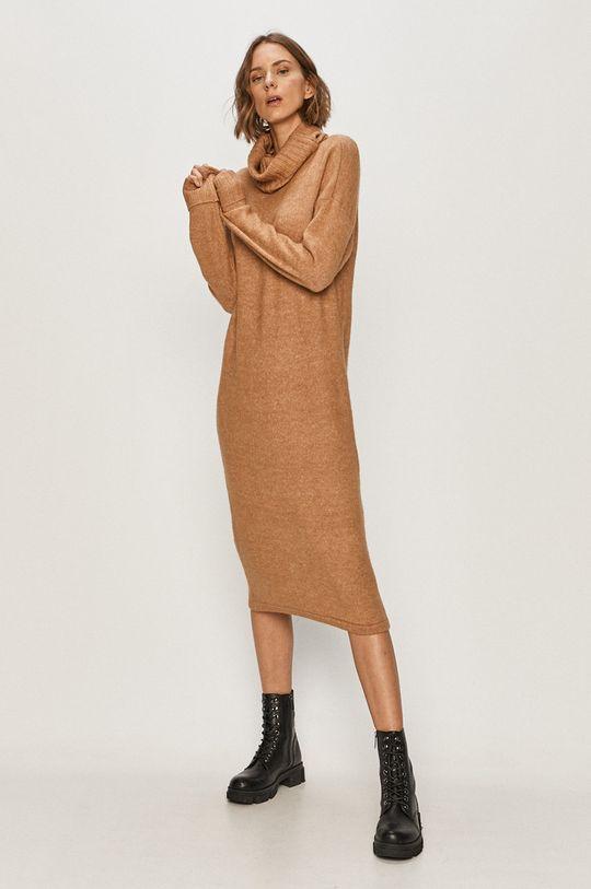 Vero Moda - Šaty kávová