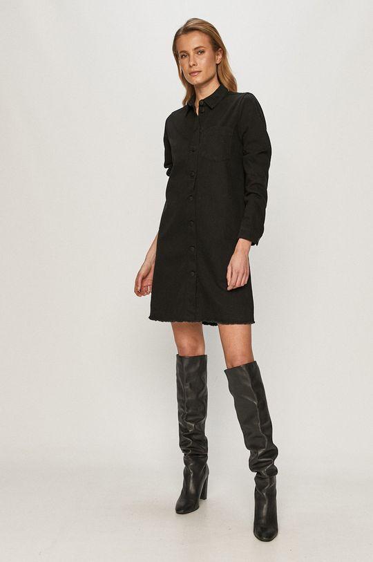 Jacqueline de Yong - Sukienka jeansowa czarny