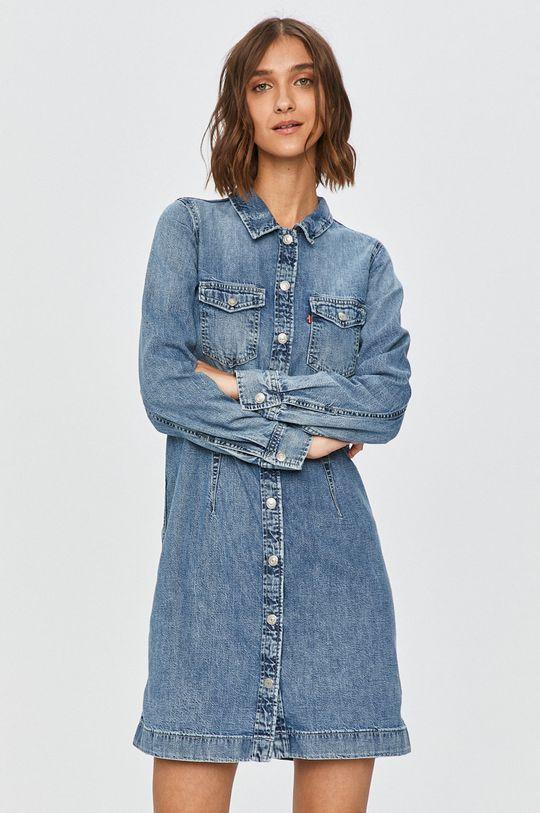 modrá Levi's - Rifľové šaty Dámsky