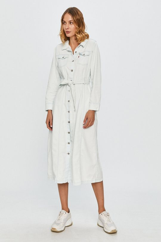 Levi's - Rifľové šaty svetlomodrá
