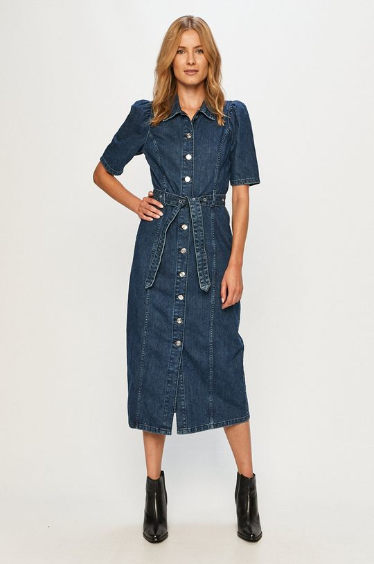 Only - Rochie jeans bleumarin