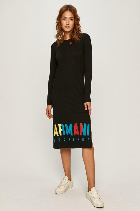 Armani Exchange - Rochie negru