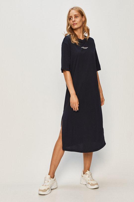 Armani Exchange - Šaty tmavomodrá