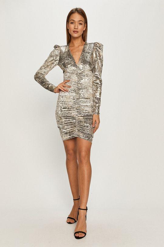 Pinko - Šaty stříbrná