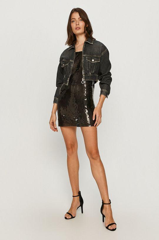 Pepe Jeans - Šaty New Megan x Dua Lipa černá