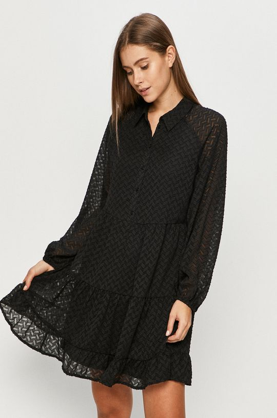 czarny Vila - Sukienka Damski