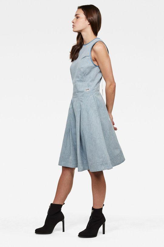 G-Star Raw - Šaty námořnická modř