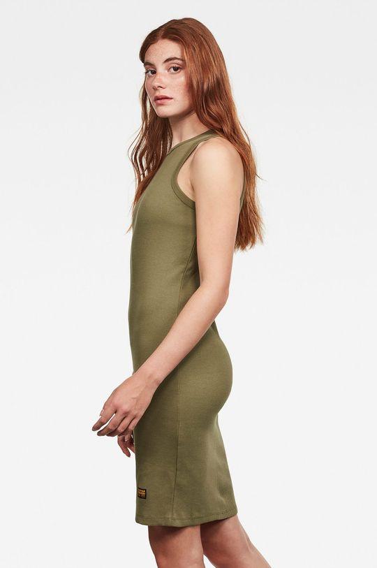 G-Star Raw - Šaty olivová