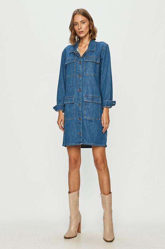 Wrangler - Rifľové šaty modrá