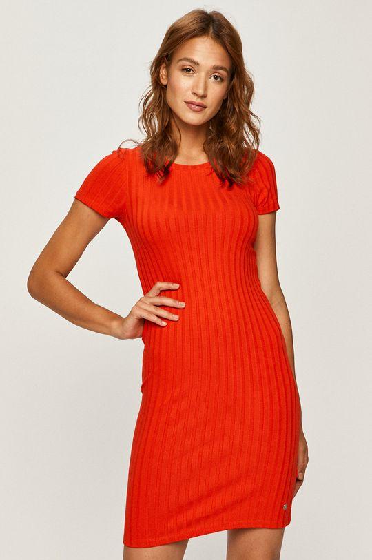 červená Calvin Klein Jeans - Šaty Dámsky
